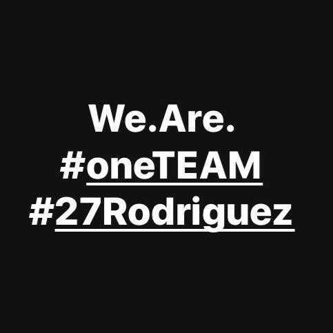 We.Are. #oneTEAM #27Rodriguez